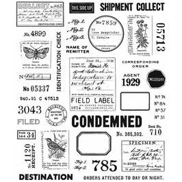 Tim Holtz Stempel Set-Field Notes