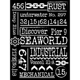 Stamperia Stencil-Sea World KSAT11