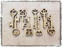Holz Verzierungen-Schlüssel 7002
