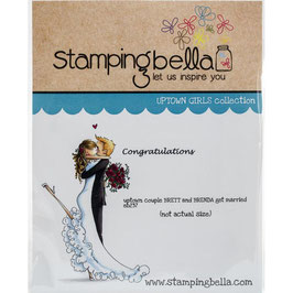 Stamping Bella-Cling Stamp/Brett & Brenda Get Married
