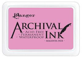 Ranger-Archival Stempelkissen & Nachfüller/Magenta Hue