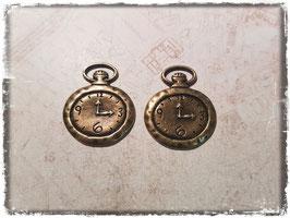 Metall Charms-Uhr Bronce-1/125