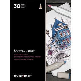 Spectrum Noir-Premium Marker Paper Pad/Weiss
