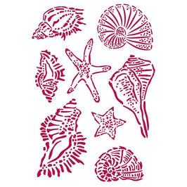 Stamperia-Stencil/Romantic Collection-Sea Dream/Shells KSG463