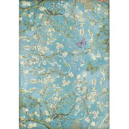 Stamperia Reispapier A4-Atelier Des Arts DFSA4546