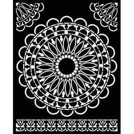Stamperia-Stencil/Atelier Des Arts-Round Lace KSTD074