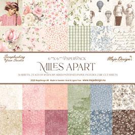 "Maja Design-Paper Pad Miles Apart 6x6"""