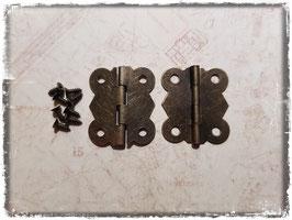 Scharniere - Vintage Bronce mittel 356