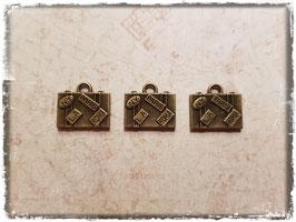 Metall Charms-Koffer Bronce-185-2