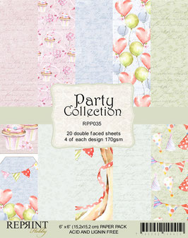 Reprint-Party Collection 6x6""