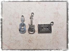 Metall Charms-Musik Silber-282