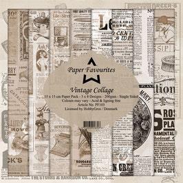 "Paper Favourites-Vintage Collage 6x6"""