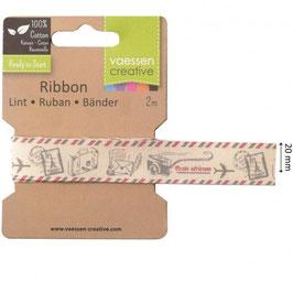 Vaessen Creative Cotton Ribbon-Airplane