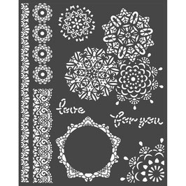 Stamperia-Stencil/Passion-Laces KSTD068