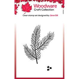 Woodware Stempel-Mini pine branch
