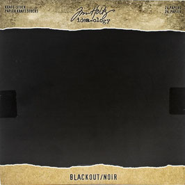 Tim Holtz-Kraft Stock/Blackout 8x8""