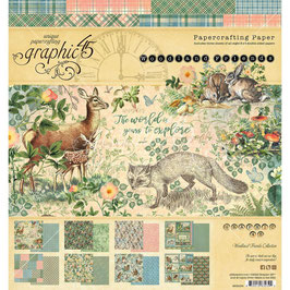 """Graphic 45-Paper Pad Woodland Friends 8x8"""""""