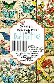 Decorer-Ephemera Karten/Butterflies