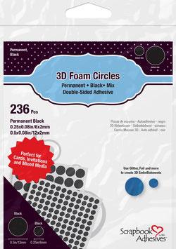 Scrapbook Adhesives-3D Foam Pads/Kreise schwarz