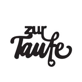"""Vaessen Creative by Mundart Stempel-Stanzform """"zur Taufe"""""""