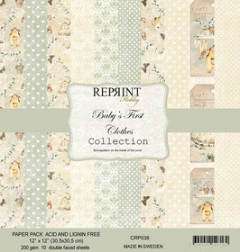 """Reprint-Baby´s First Clothes Collection 12x12"""""""