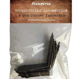 Stamperia-Corner Fasteners/Eck Befestigungen 6 Stück