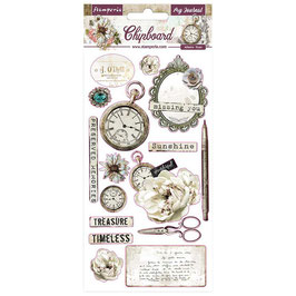 Stamperia-Chipboard Romantic Collection Journal
