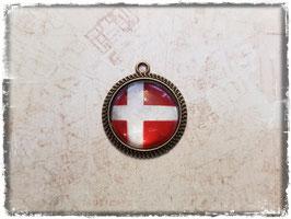 Cabochon Anhänger - Flagge Dänemark 2.035