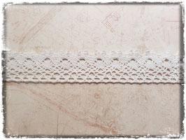 Zierband Spitzenband - Weiss oder Creme