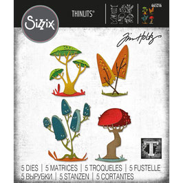 Sizzix by Tim Holtz Thinlits-Stanzform/Funky Toadstools