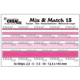 Crealies Stanzform-Mix & Match 13/Strips with dots