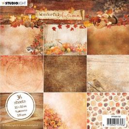 """Studio Light-Paper Pad Wonderful Autumn 6x6"""" Nr.150"""