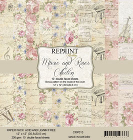 Reprint-Music & Roses Collection 12x12""