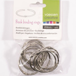 Vaessen Creative-Buchringe/silver 38mm