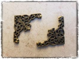 Filigrane Buchecken - Vintage bronce 376