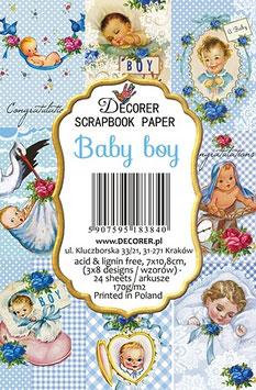 Decorer-Ephemera Karten/Baby boy