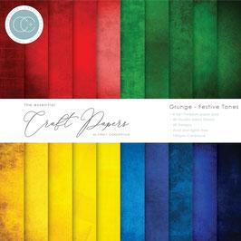 """Craft Consortium-Paper Pad/Grunge Festive Tones 6x6"""""""