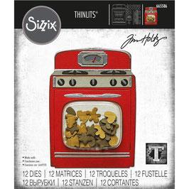 Sizzix by Tim Holtz Thinlits-Stanzform/Retro Oven
