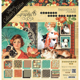 Graphic 45 - Paper Pad - Deluxe Collector's Edition - Raining Cats & Dogs - 12x12""