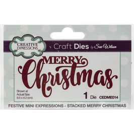 Creative Expressions Stanzform-Merry Christmas