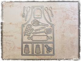 Stanzform-Kochschürze mit Zubehör 4030