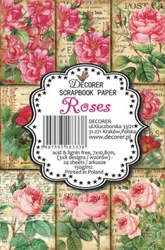 Decorer-Ephemera Karten/Roses
