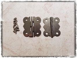 Scharniere - Vintage Silber mittel 353