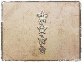 Stanzform-Knöpfe Sterne 1109