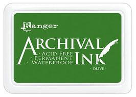 Ranger-Archival Stempelkissen & Nachfüller/Olive
