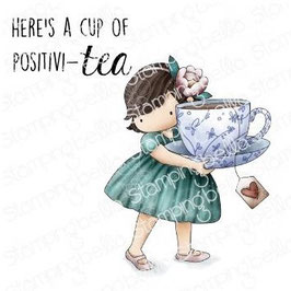 Stamping Bella-Cling Stamp/Tiny Townie Loves Tea