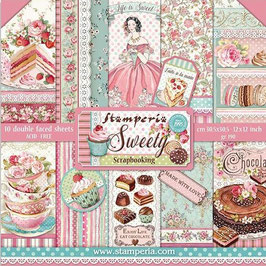 """Stamperia-Paper Pad Sweety 12x12"""""""