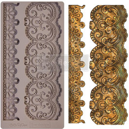 Re-Design with Prima Marketing-Silikonform/Border Lace