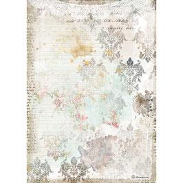 Stamperia Reispapier A4-Romantic Collection-Journal DFSA4556