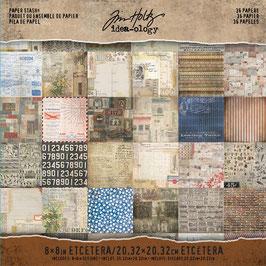 "Tim Holtz-Scrapbooking Papier/Etcetera 8x8"""